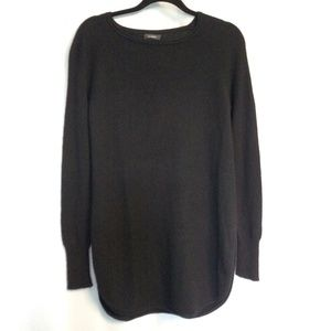Halogen Wool Cashmere Shirttail Tunic Sweater S